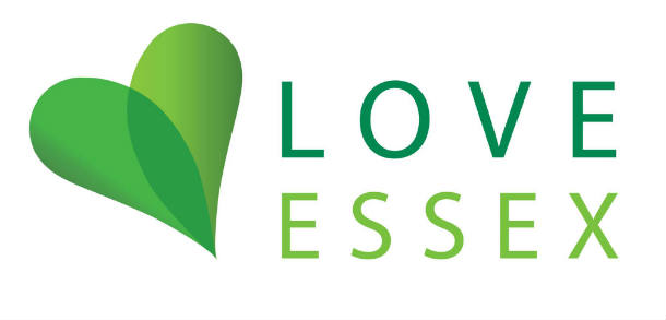 Love Essex logo with green heart