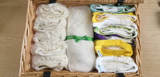 Cloth nappy hamper